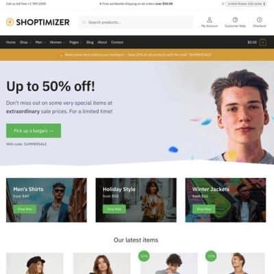 Shoptimizer Fastest WooCommerce WordPress Themes