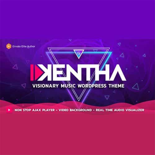 Kentha Visionary Music WordPress Theme an Plugin