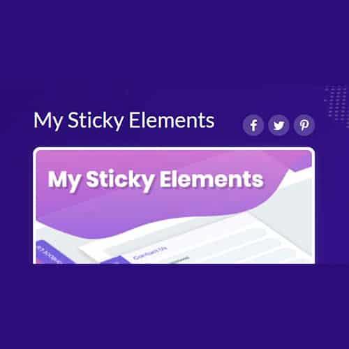 My Sticky Elements Pro WordPress Plugin